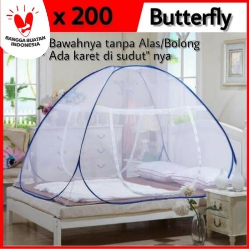Foto Produk KELAMBU Kasur Tidur Lipat KELAMBU Jaring ANTI NYAMUK merk Butterfly - 180 dari dajessvin