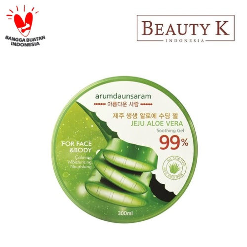 Foto Produk BeautyK Aramdaunsaram Jeju Aloe Vera Soothing Gel 300 Ml dari BeautyK Indonesia