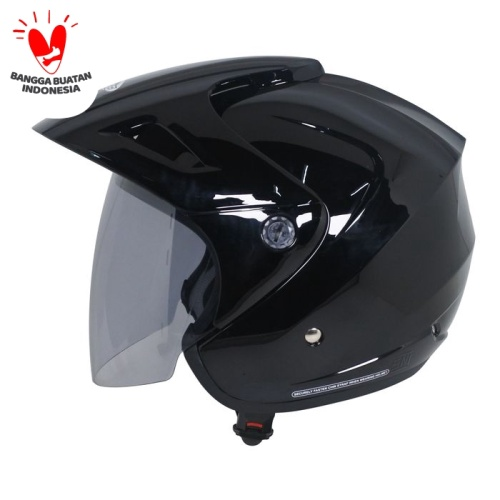 Foto Produk Cargloss CX Helm Half Face - Deep Black - All Size dari Helm Cargloss