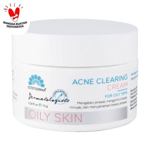 Foto Produk Estetiderma - Krim Wajah Berjerawat Acne Clearing Cream dari Estetiderma Official