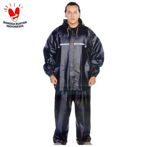 Foto Produk Jas Hujan super BESAR JUMBO - Jas hujan Extra Large sumo tiger XXXXXXL - Hitam dari dajessvin