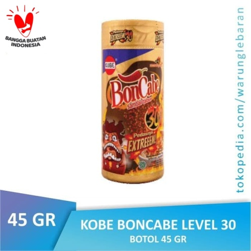 Foto Produk [BTL] BONCABE Sambal Tabur Kobe | Level 30 Original BOTOL Bon Cabe dari Warung Lebaran