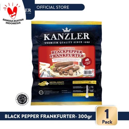 Foto Produk 1 Pack - Kanzler Sosis Beef Black Pepper Frankfurter 300gr dari Kanzler Official Store