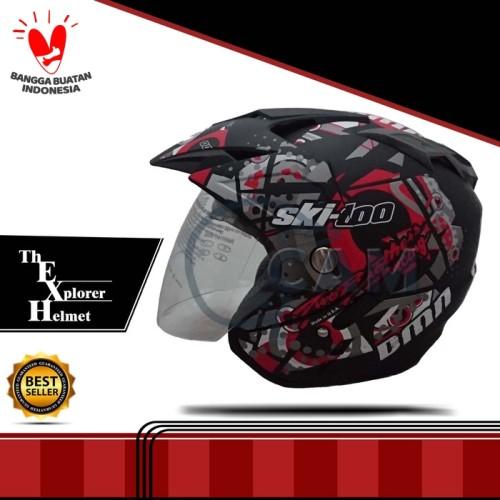 Foto Produk Helm DMN Jp-7 Ski doo Black doff red dari Cam Helmet