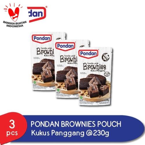 Foto Produk Pondan Brownies Kukus Panggang (3 Pouch) dari Pondan Food