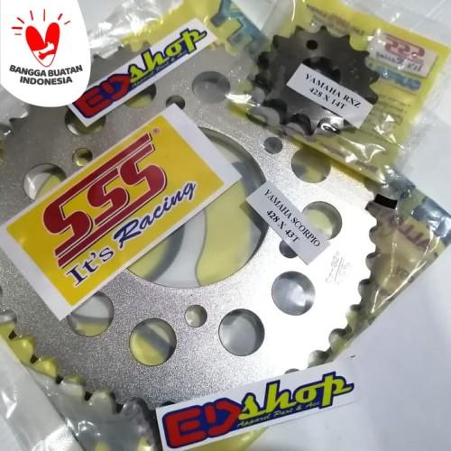 Foto Produk gear SSS 428 ( Depan 14 - 15 + blkg 40 ~ 45 ) VIXION BYSON MX KING dari ED-SHOP