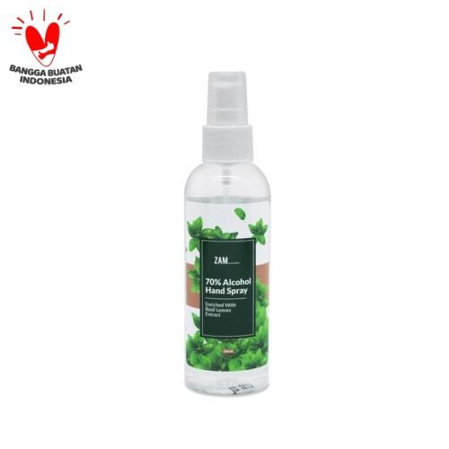 Foto Produk ZAM 70% Alcohol Hand Spray With Basil Leaves Extract dari ZAM Cosmetics