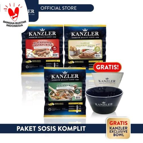 Foto Produk Kanzler Paket Sosis Komplit - 3 Pack dari Kanzler Official Store