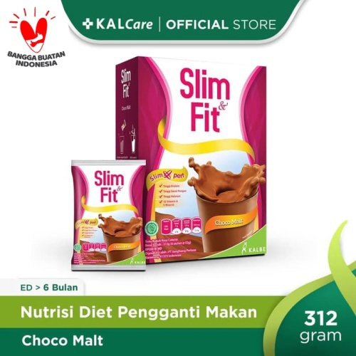 Foto Produk Slim & Fit Meal Replacement Coklat 6X54 G dari KALCare Official Store