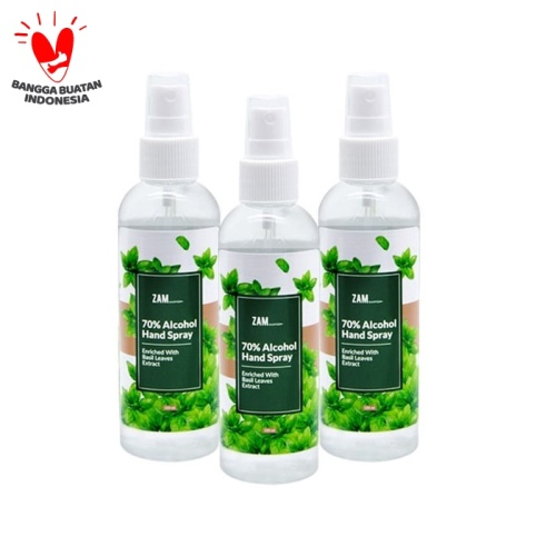 Foto Produk Spesial Promo ZAM 70% Alcohol Hand Spray With Basil Leaves Extract dari ZAM Cosmetics