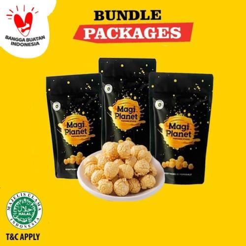 Foto Produk 3 Classic Pack Magi Planet Popcorn - Bundle 110GR dari Magi Planet Popcorn