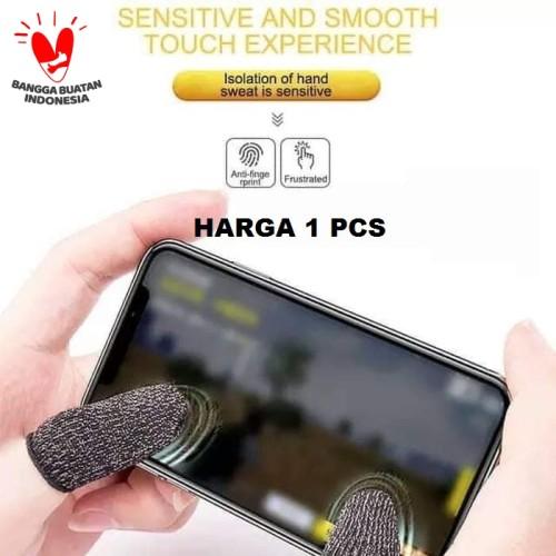 Foto Produk Sarung Tangan Jempol Jari Anti Basah Keringat Layar HP PUBG Mobile - Hitam dari Distributor HPAI