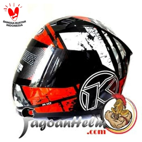 Foto Produk KYT Helm R10 #3 | Red Black White | R-10 Full Face dari Jagoan Helm
