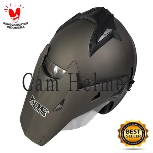 Foto Produk Helm Motor SNI KNC Semi Trail Cross 2 kaca Grey doff dari Cam Helmet