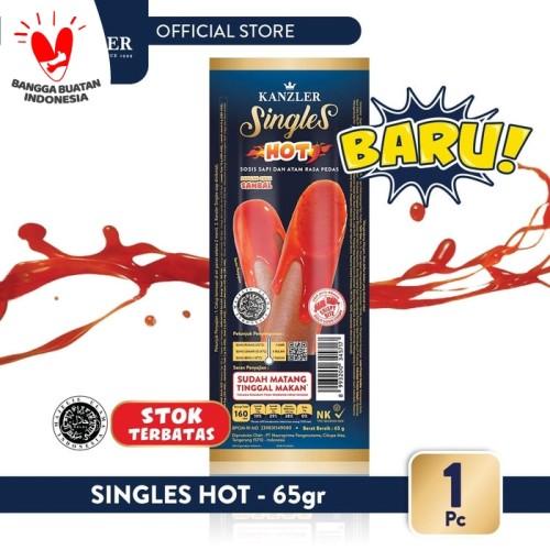 Foto Produk 1 Pc - Kanzler Sosis Singles Hot 65gr dari Kanzler Official Store