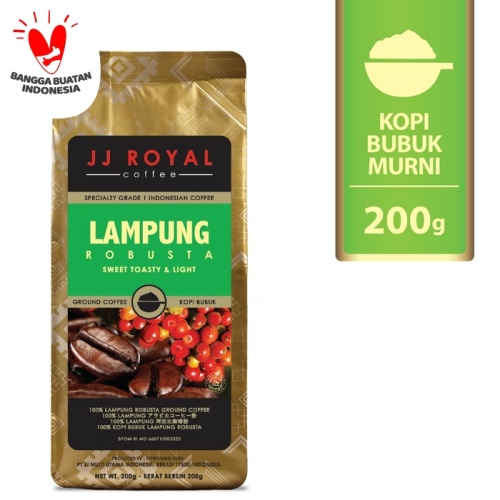 Foto Produk Coffee/Kopi JJ Royal Lampung Robusta Ground Bag 200g dari JJ Royal Coffee