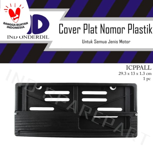 Foto Produk Cover-Dudukan-Tempat Plat Nomor-Nomer-No Motor Honda/Yamaha/Universal dari IND Onderdil