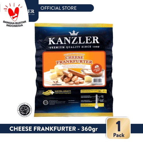 Foto Produk 1 Pack - Kanzler Sosis Cheese Frankfurter 360gr dari Kanzler Official Store