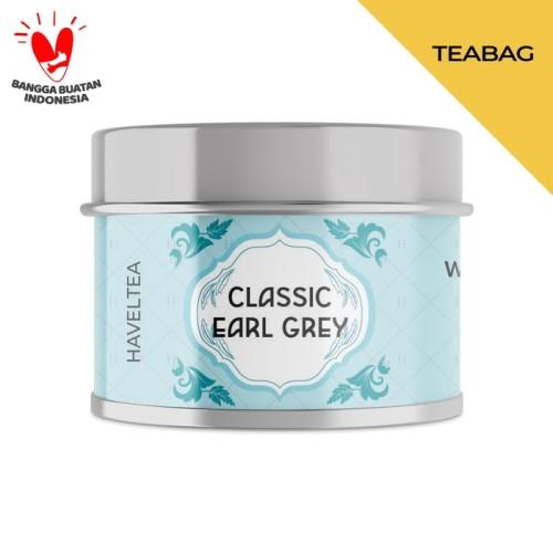 Foto Produk CLASSIC EARL GREY   Mini Tin   Haveltea   Teh Hitam Bergamot Indonesia - 5 Eco Tea Bags dari Haveltea Official Store