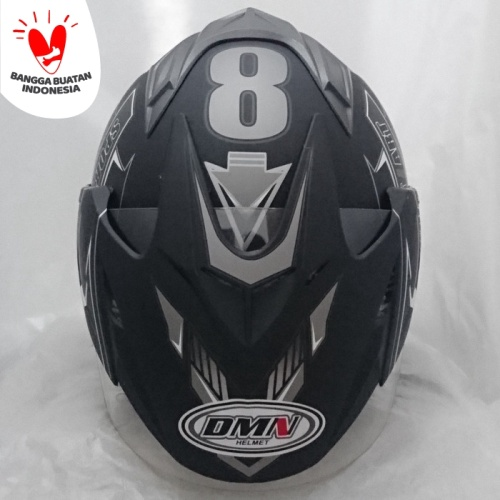 Foto Produk Helm DMN 2 kaca (double visor) Sport B-doff abu dari Cam Helmet