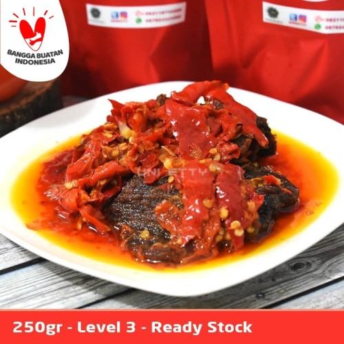 Foto Produk Dendeng Balado Batokok (Cabe Merah) PEDAS LEVEL 3 - ASLI PADANG dari Uni Etty
