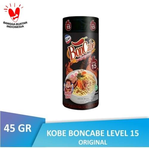 Foto Produk [BTL] BONCABE Sambal Tabur Kobe   Level 15 Original BOTOL Bon Cabe dari Warung Lebaran