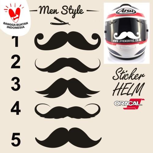 Foto Produk Sticker/Stiker Visor Kaca Helm Kumis Universal dari saungmotor