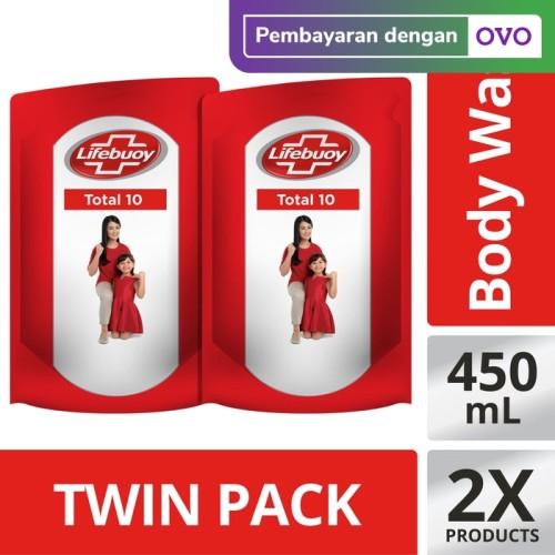 Foto Produk Lifebuoy Sabun Cair Total 10 Refill 450ml Twin Pack dari Unilever Official Store