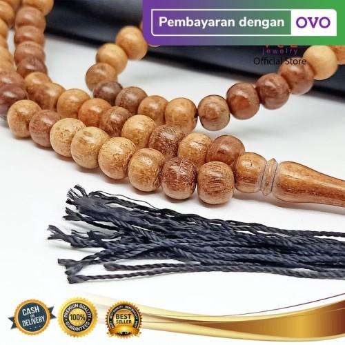 Foto Produk Tasbih Kayu Gaharu Asli Wangi Bertuah 99 Butir - VeE Kalung Tasbih dari Vee Jewelry