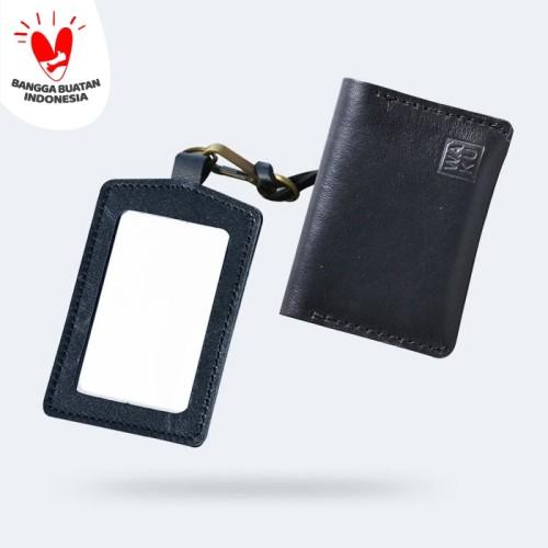 Foto Produk [BUNDLING] WAKU 2 in 1 Dompet Slimwallet ID Card Holder Black dari WAKU Indonesia