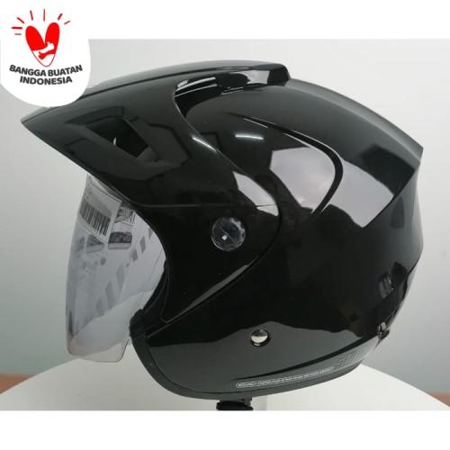 Foto Produk Cargloss CX Cargloss Helm Half Face - BLACK MET dari Helm Cargloss