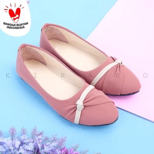 Foto Produk KIRARO Sepatu Flatshoes Wanita Kerja Santai Murah Casual KFMDR05 - Abu-abu, 38 dari Kiraro
