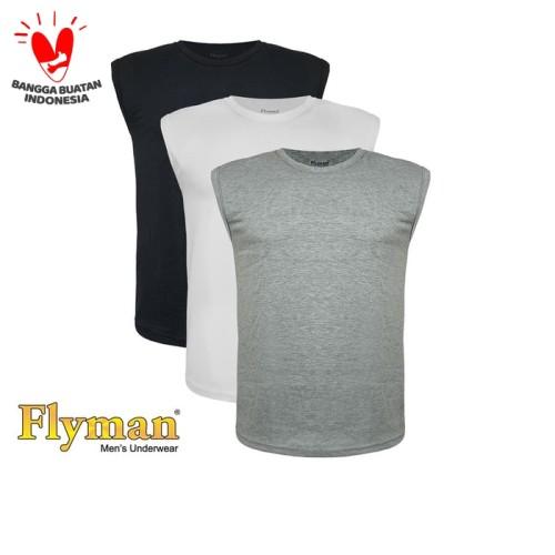 Foto Produk Flyman | Singlet Pria Dewasa | Pakain Dalam Pria Dewasa | FMA 3061 - Hitam, M dari Flyman Nathalie Store