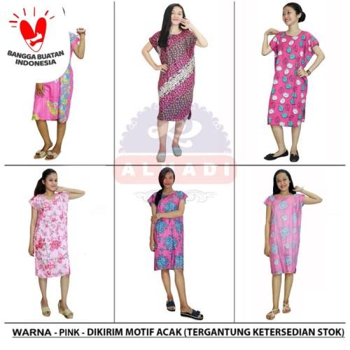 Foto Produk Daster Midi - Motif Acak / Campur - (BPT002) Alhadi - Merah Muda dari Alhadi