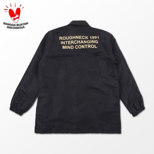Foto Produk Roughneck CJ033 Black Mind Control Coach jacket - L dari ROUGHNECK 1991 Official