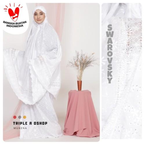 Foto Produk Mukena Katun Paris Renda Melati Putih Cantik dari Triple-A oshop