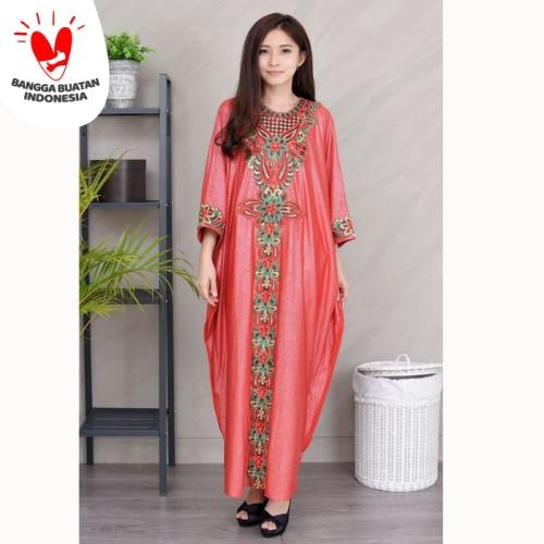 Foto Produk Jfashion Gamis variasi Renda tangan Panjang - Sarah - Merah dari j--fashion