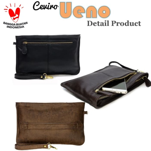"Foto Produk Ceviro Ueno Man Clutch // Ceviro Ueno Woman Clutch ""UNISEX"" - Hitam dari Ceviro Bags Indonesia"