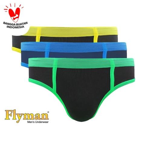 Foto Produk Flyman Midi Brief Bright Celana Dalam Pria Dewasa FM 3107 1 Pack Isi 3 - XXL dari Flyman Nathalie Store