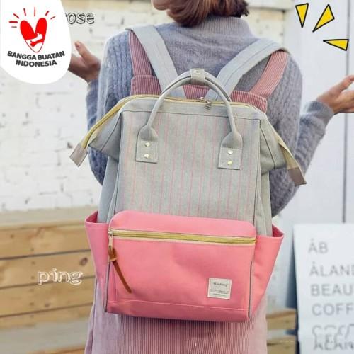 Foto Produk Backpack Anello Salur Tas Ransel Sekolah Tas Anello Salur Murah grosir - Merah Muda dari SUPERSTORE1