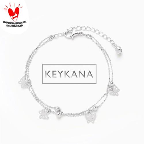Foto Produk Butterfly Chain Bracelet KEYKANA Jewelry - White dari KEYKANA JEWELRY
