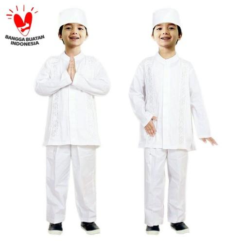 Foto Produk Baju Koko Anak Putih Fayrany FKP-004A Size 13 - 15 - 14 Tahun dari Fayrany