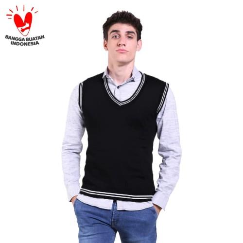 Foto Produk Jfashion Men's Knit Vest Rompi Rajut Pria - Exo - Abu-abu, S dari j--fashion