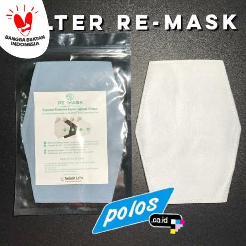 Foto Produk RE-MASK Filter Masker Kain (isi 4 lbr) lebih besar dari Filter PM 2.5 dari polos.co.id