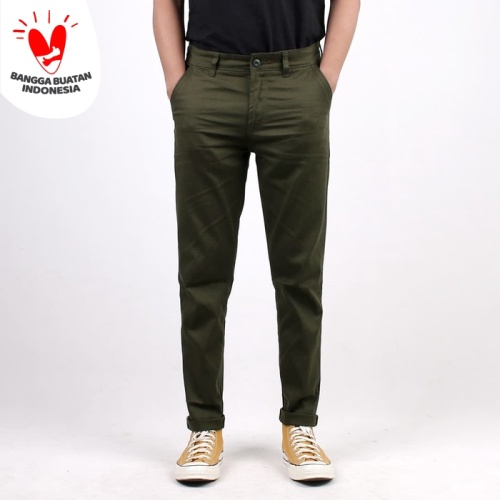 "Foto Produk Chino ""Tree"" Green Army - Selvedge Accent - 30 dari Mickout Project"