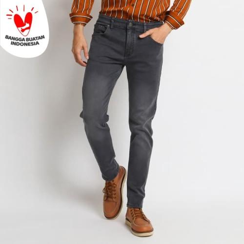 Foto Produk VENGOZ Celana Jeans Skinny Pria - Dark Grey Wash - Abu-abu,29 dari VENGOZ