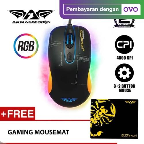 Foto Produk Armaggeddon Mouse Gaming Scorpion 3 4800 CPI - Garansi 2 Tahun - No Name dari Armaggeddon Official