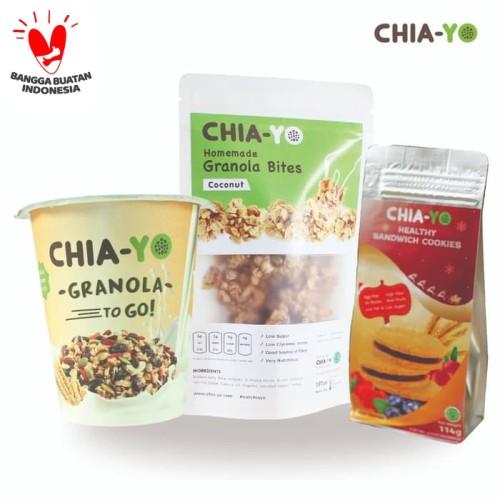 Foto Produk Granola Bites + Cereal to Go + Cookies Mix Berries Bundling dari Chia-Yo