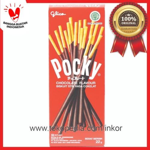 Foto Produk POCKY CHOCOLATE FLAVOUR RASA COKELAT MINI BOX 22GR dari Inko