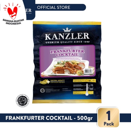 Foto Produk 1 Pack - Kanzler Sosis Frankfurter Coktail 500gr dari Kanzler Official Store